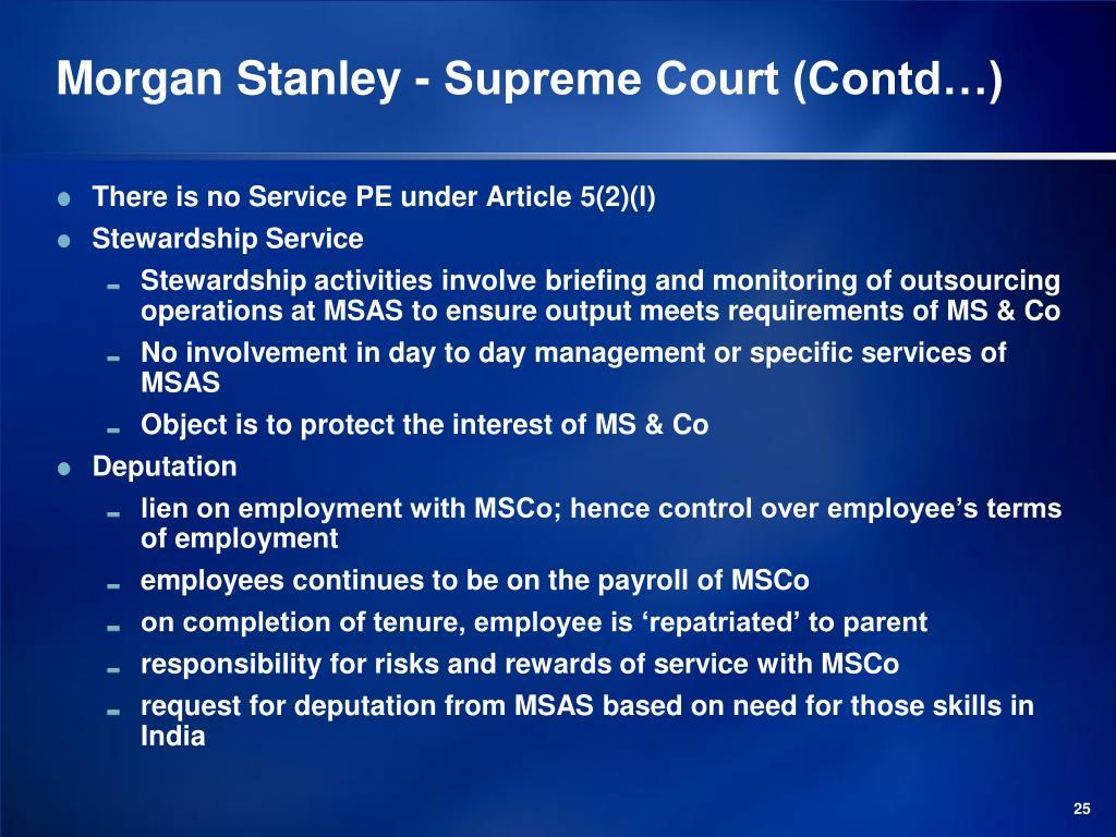 Morgan Stanley - Supreme Court (Contd…)