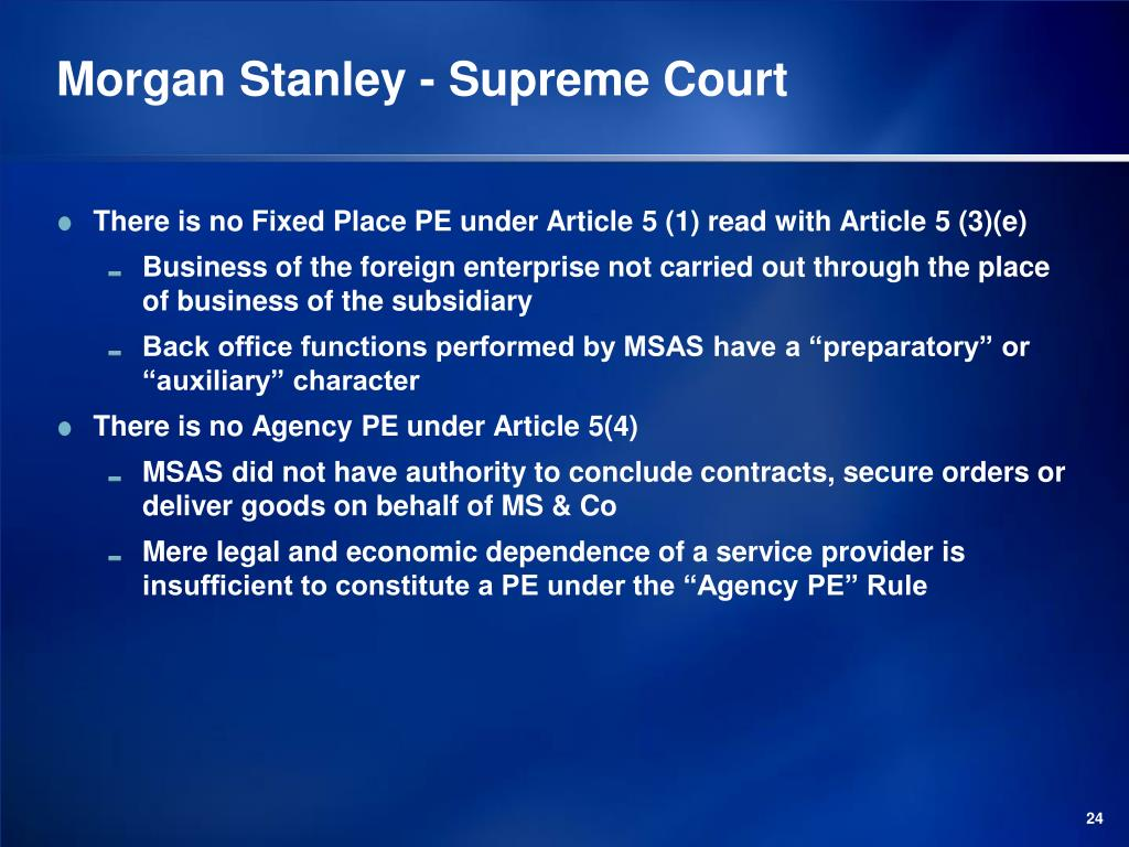 Morgan Stanley - Supreme Court