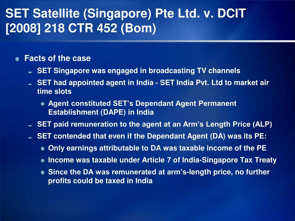 SET Satellite (Singapore) Pte Ltd. v. DCIT  [2008] 218 CTR 452 (Bom)