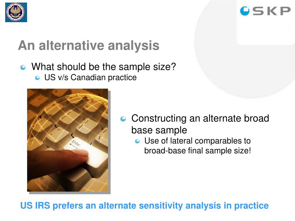 An alternative analysis