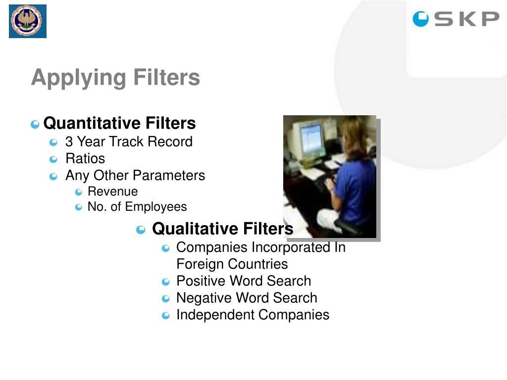 Quantitative Filters