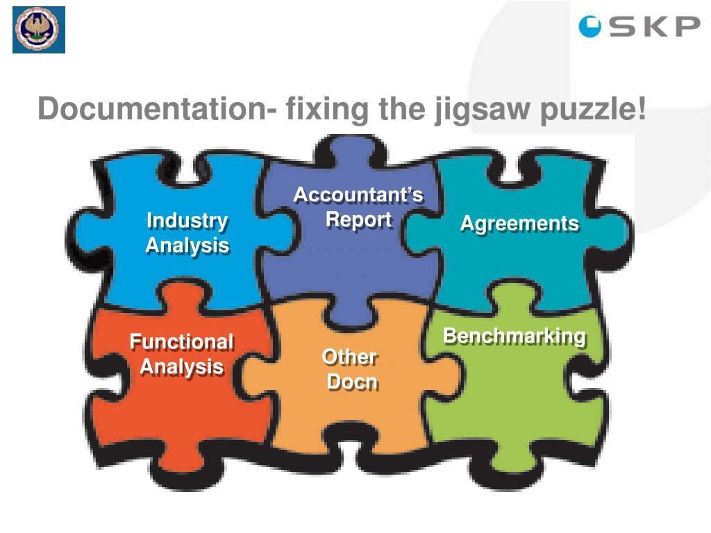 Documentation- fixing the jigsaw puzzle!