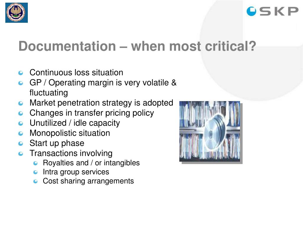 Documentation – when most critical?
