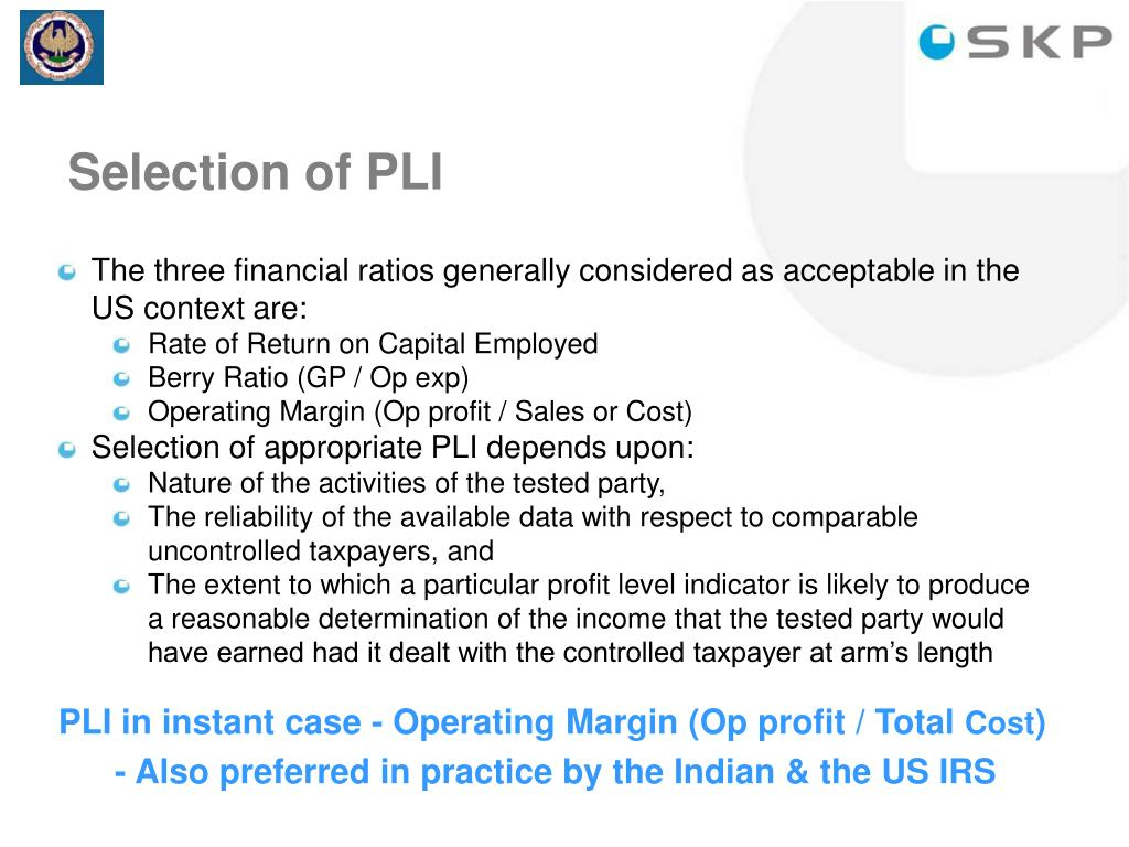 Selection of PLI