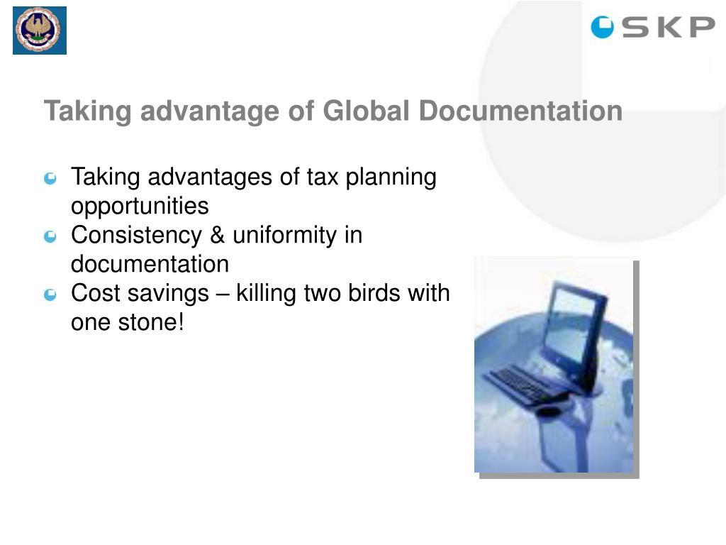 Taking advantage of Global Documentation