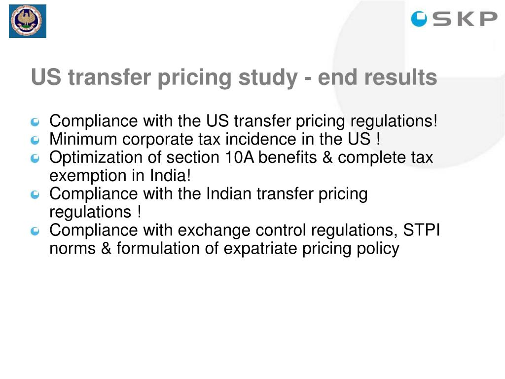 US transfer pricing study - end results