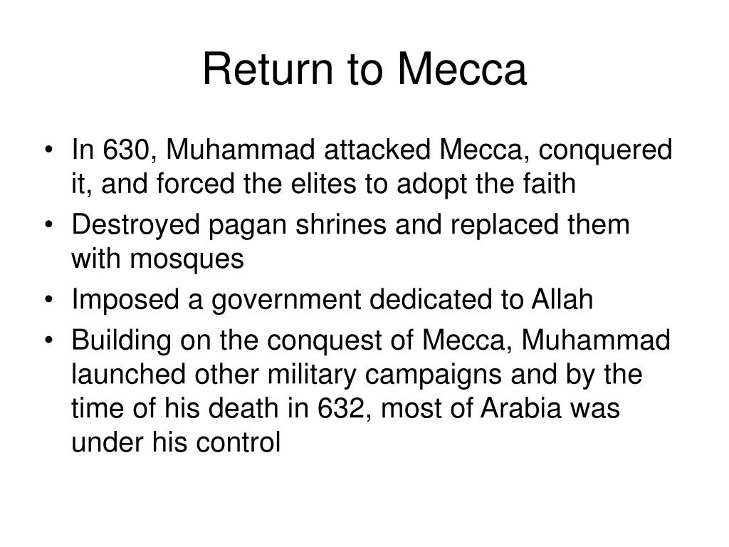 Return to Mecca