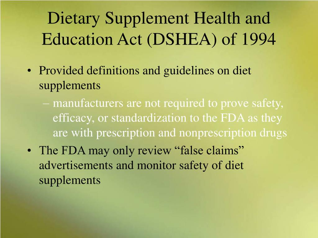 difference between dietary guidelines and food standards