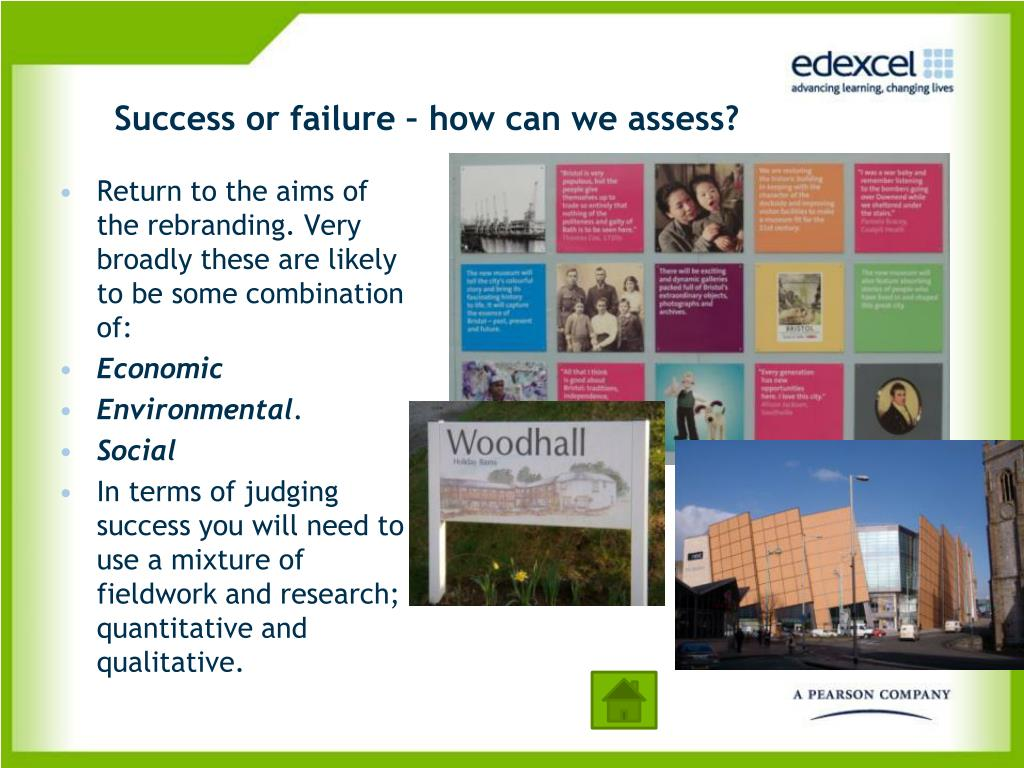 Success or failure – how can we assess?