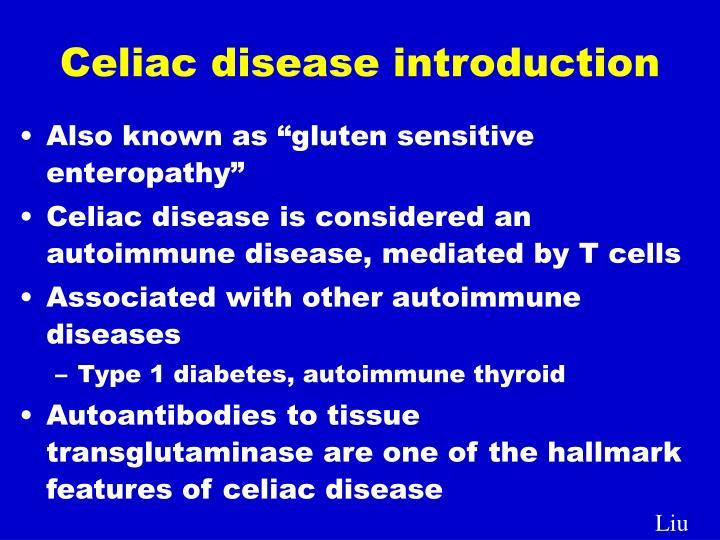 Celiac disease introduction