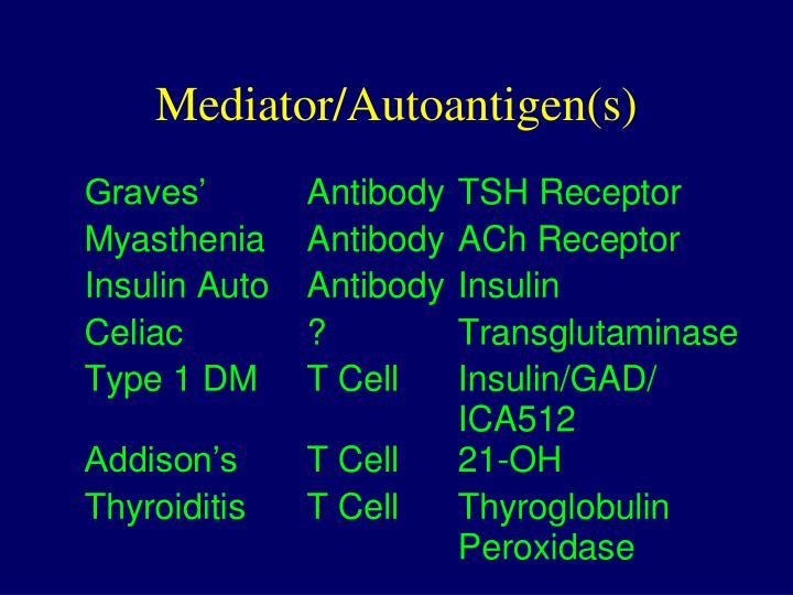 Mediator/Autoantigen(s)
