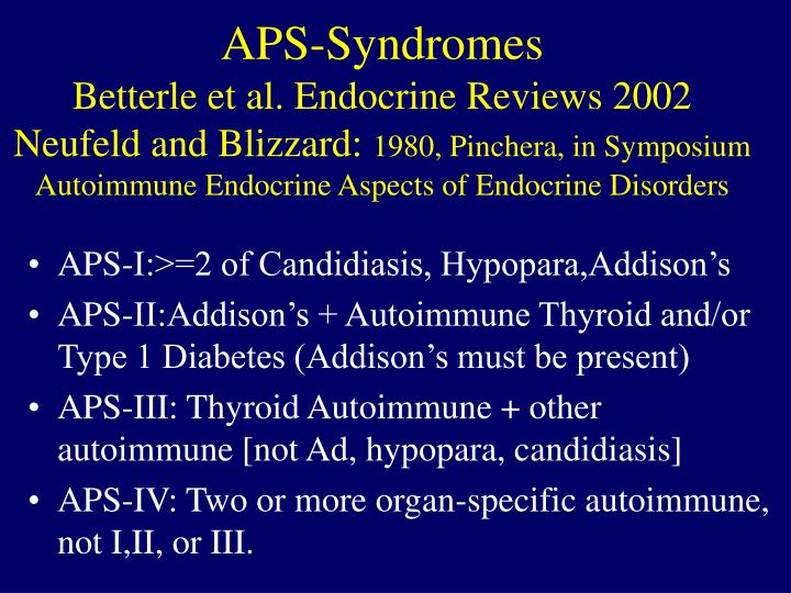 APS-Syndromes