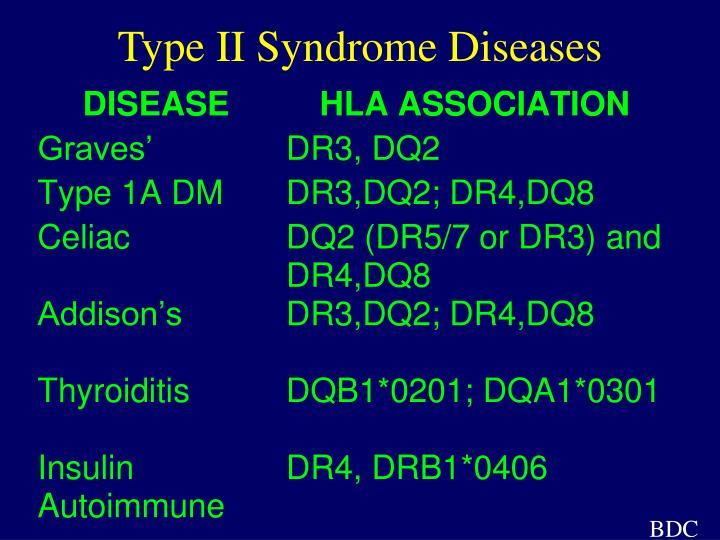 Type II Syndrome Diseases