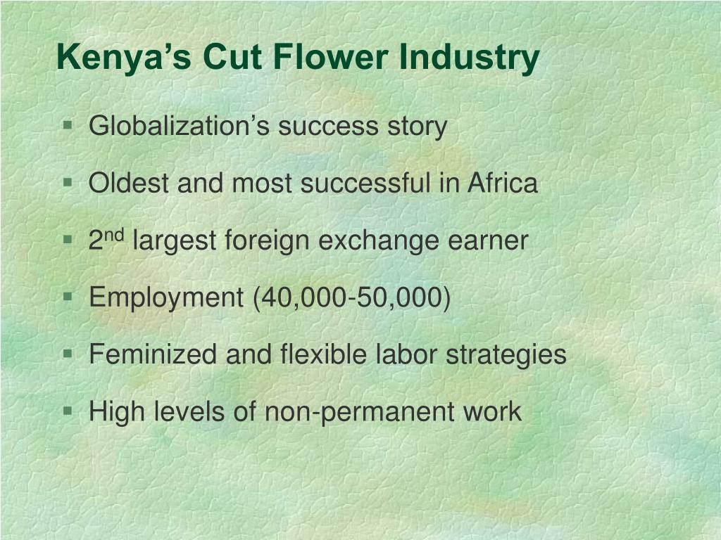 Kenya's Cut Flower Industry