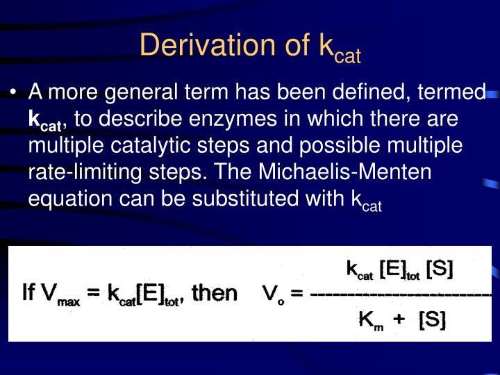 Derivation of k