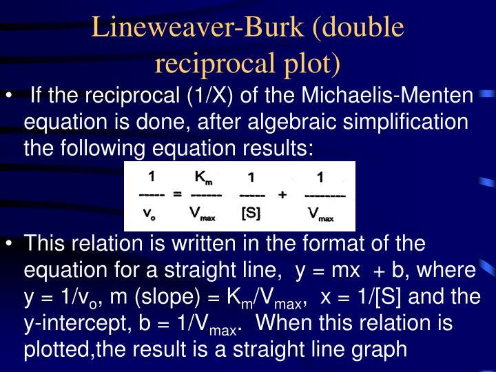 Lineweaver-Burk (double reciprocal plot)