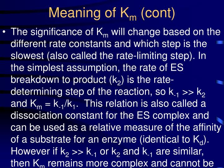 Meaning of K