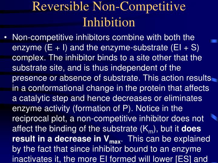 Reversible Non-Competitive Inhibition