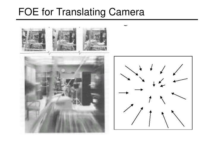FOE for Translating Camera