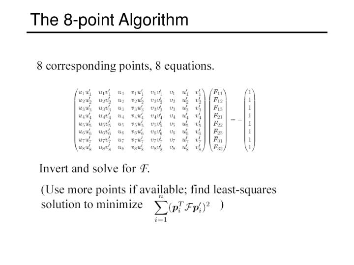 The 8-point Algorithm