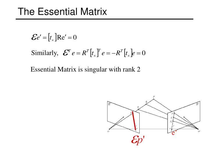 The Essential Matrix