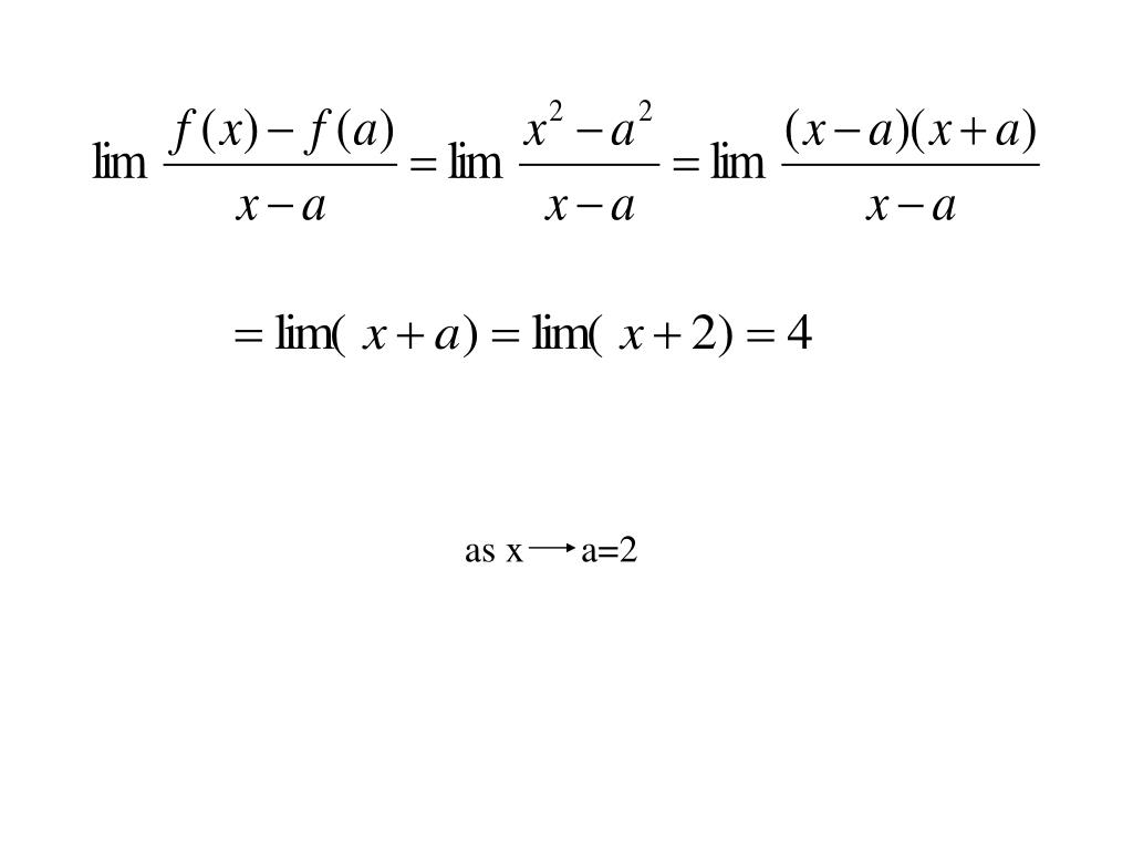 as x      a=2