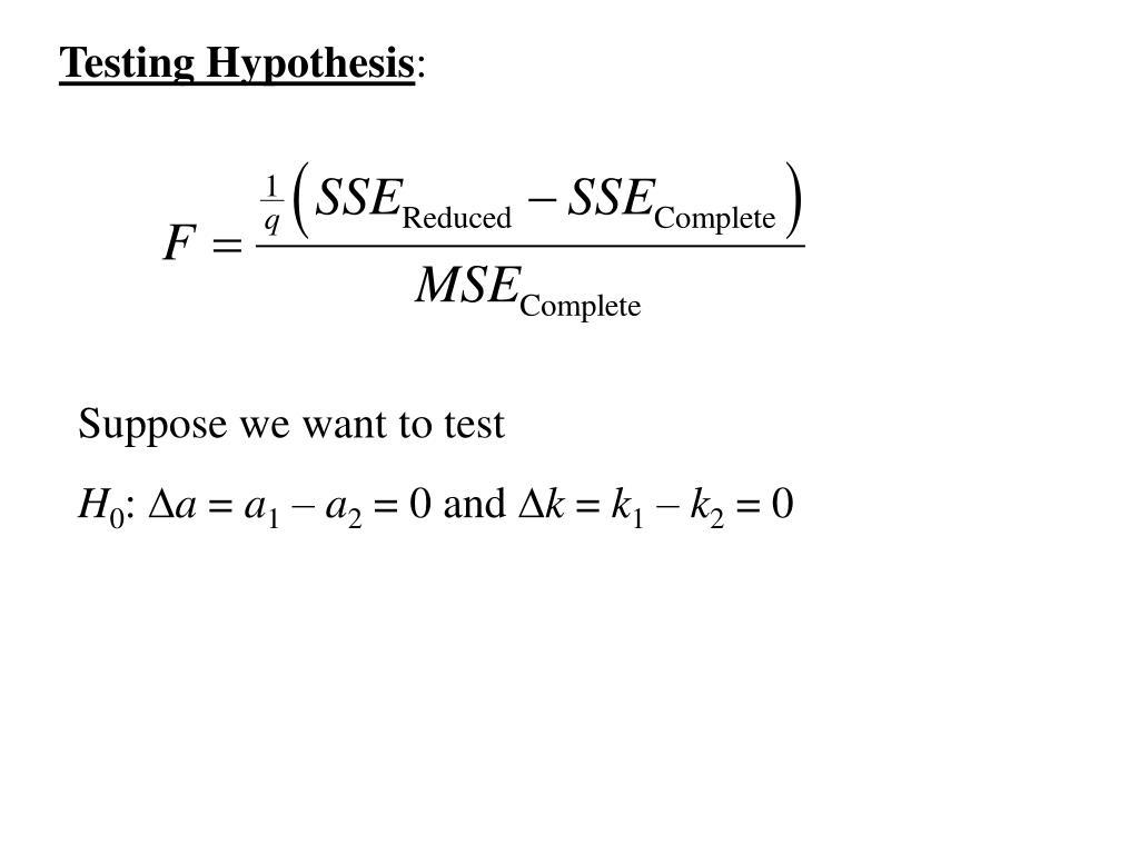 Testing Hypothesis