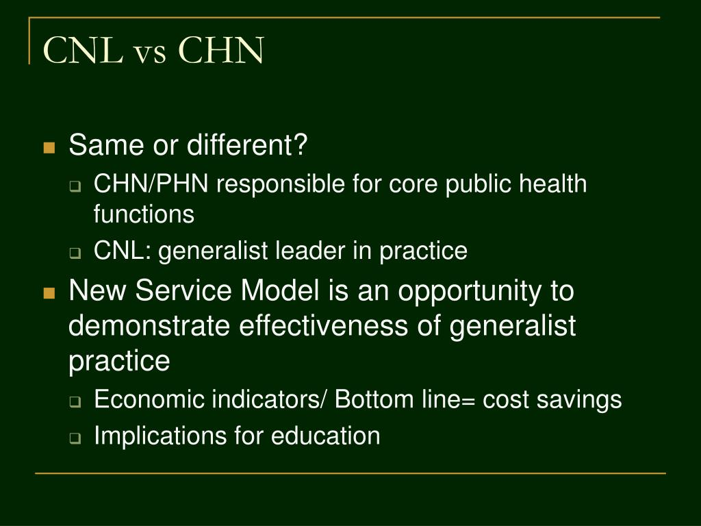 CNL vs CHN