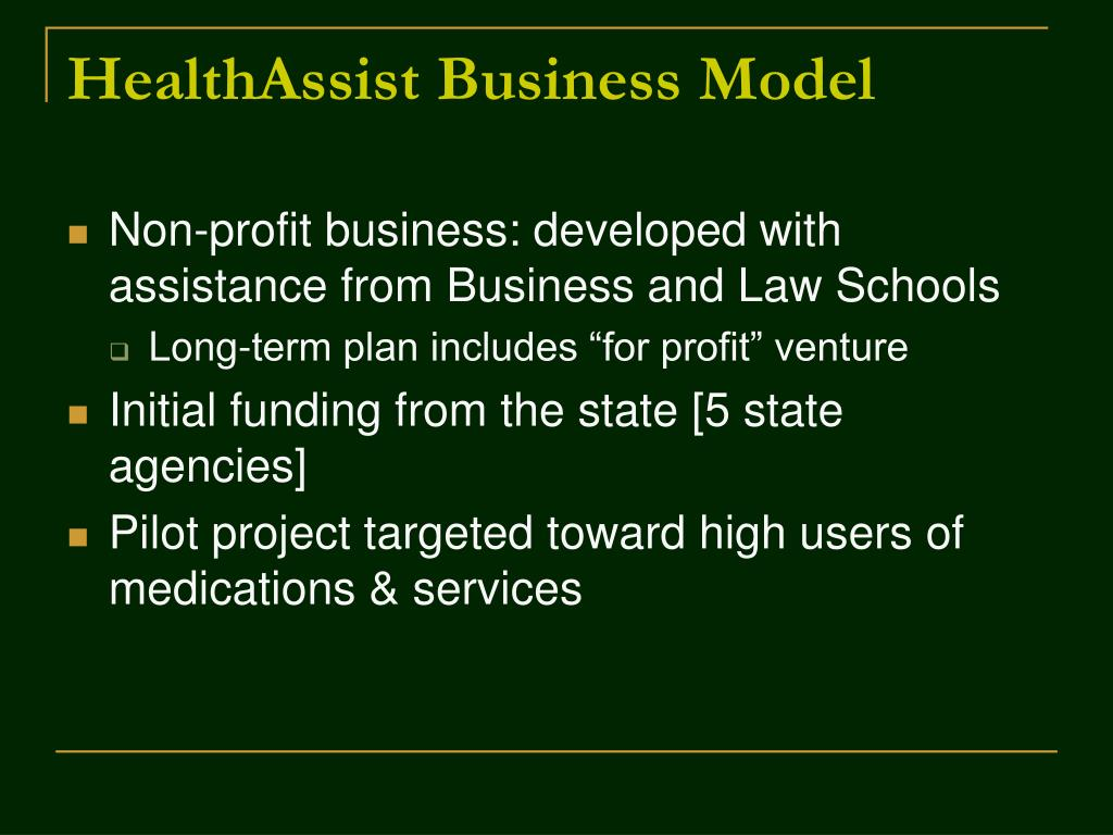 HealthAssist Business Model