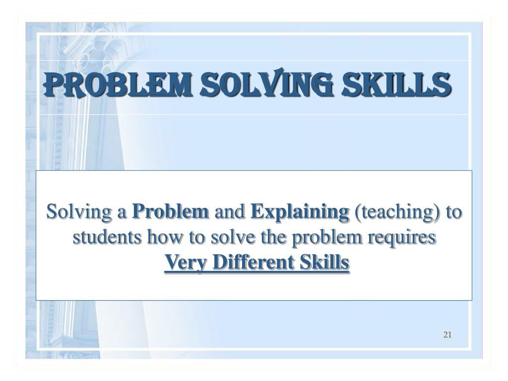 Solving a