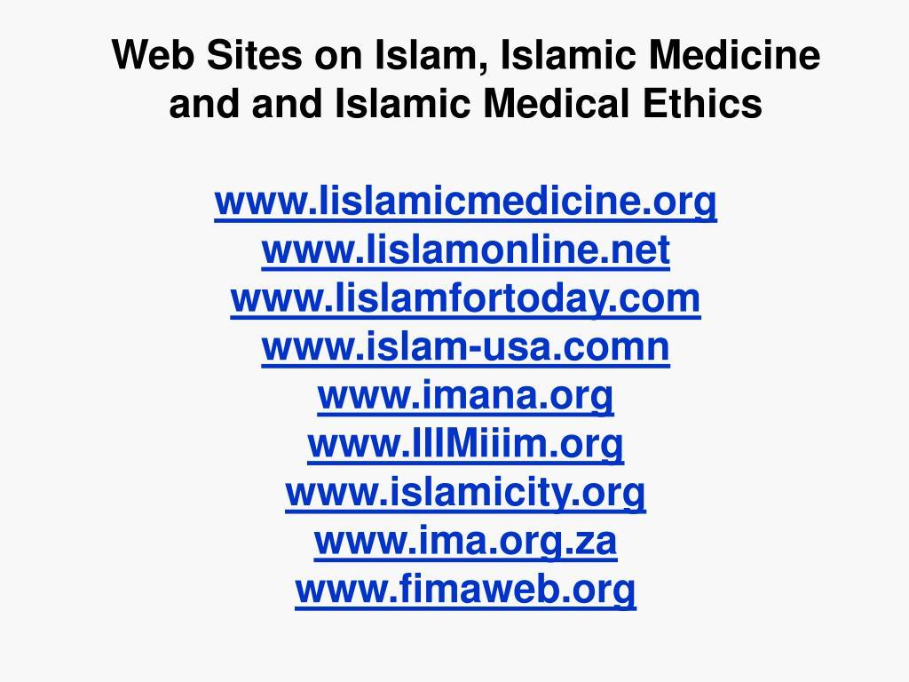 Web Sites on Islam, Islamic Medicine