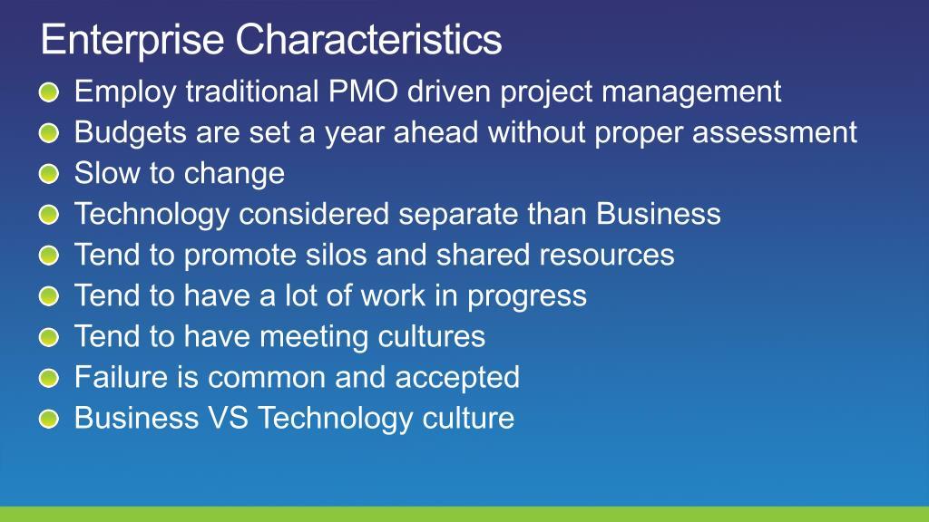 Enterprise Characteristics
