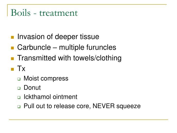 Boils - treatment
