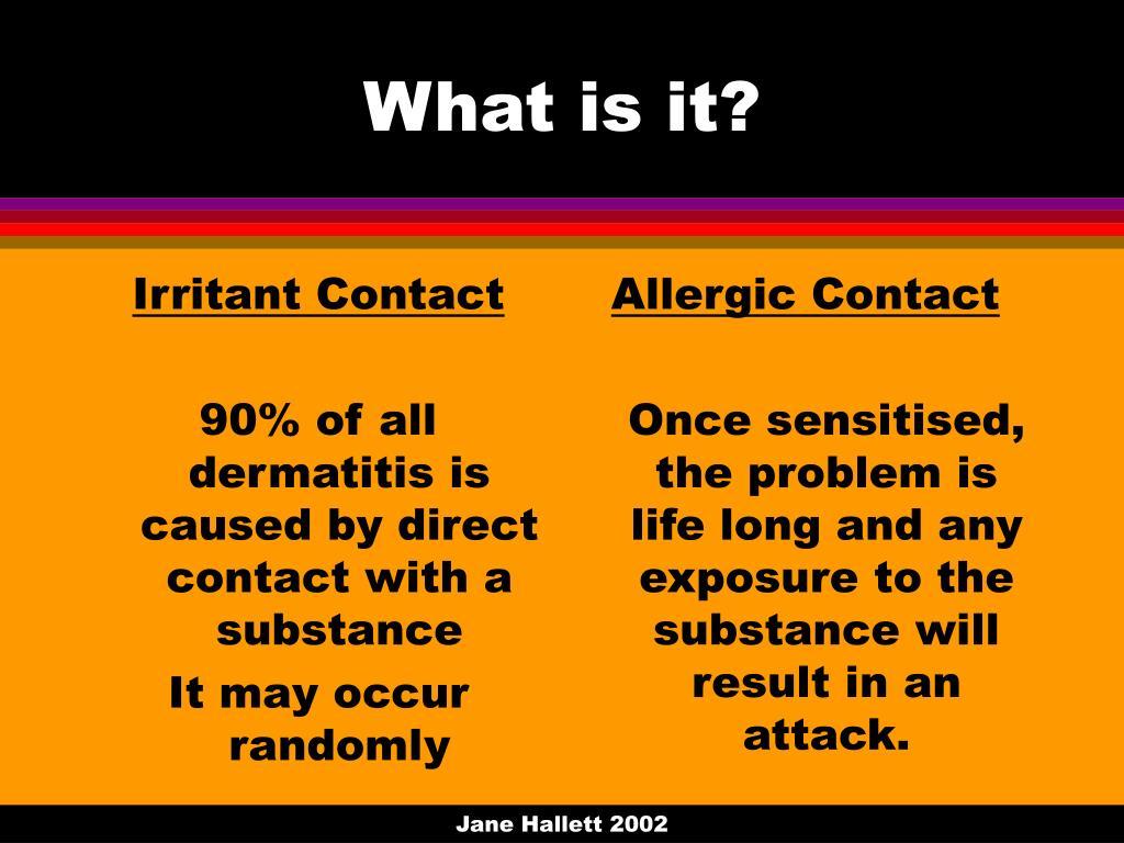 Irritant Contact