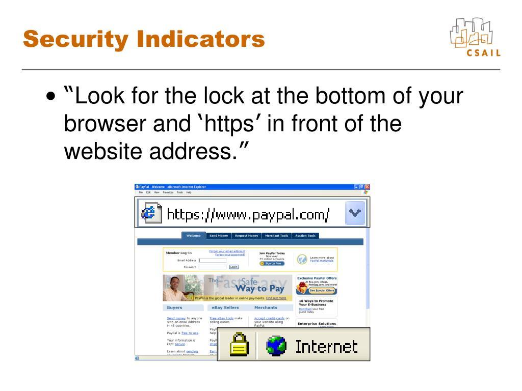 Security Indicators