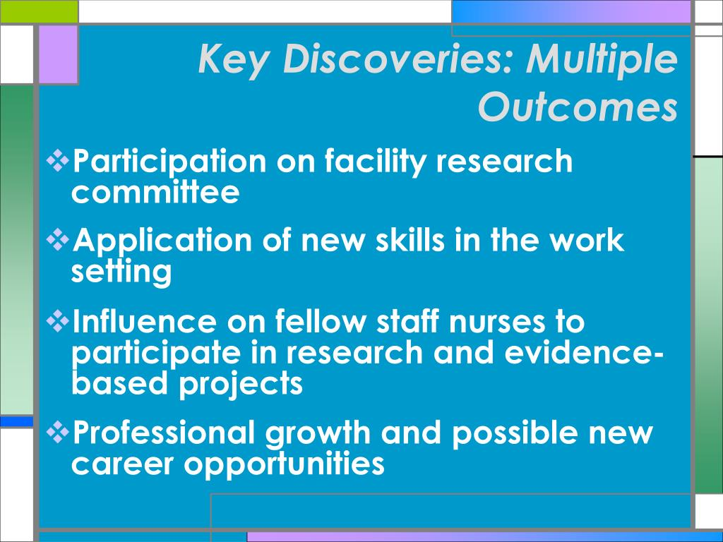 Key Discoveries: Multiple Outcomes