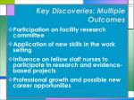 key discoveries multiple outcomes12