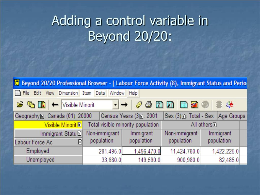 Adding a control variable in