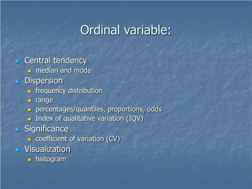 Ordinal variable: