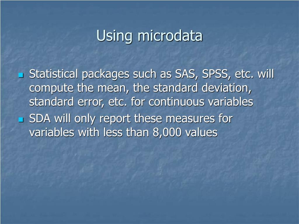 Using microdata