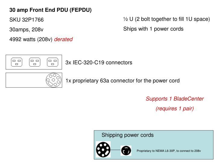 30 amp Front End PDU (FEPDU)