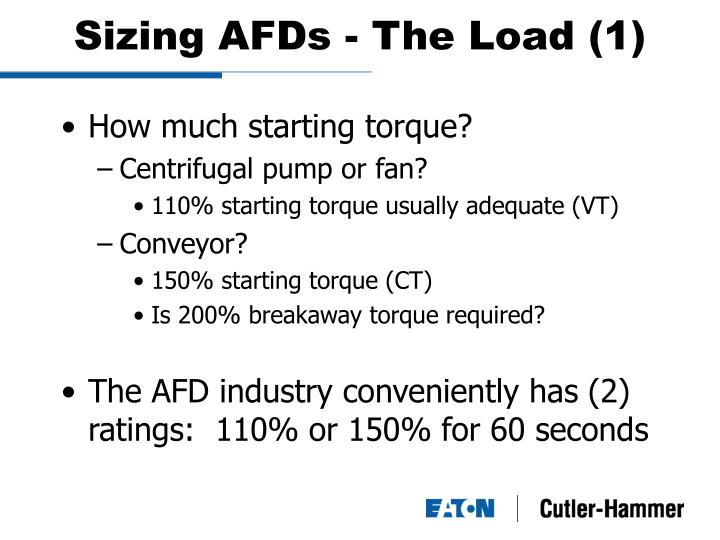 Sizing AFDs - The Load (1)
