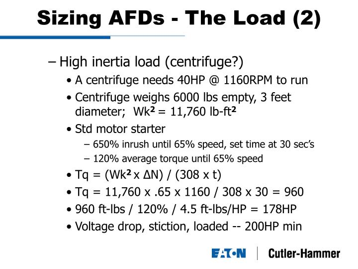 Sizing AFDs - The Load (2)