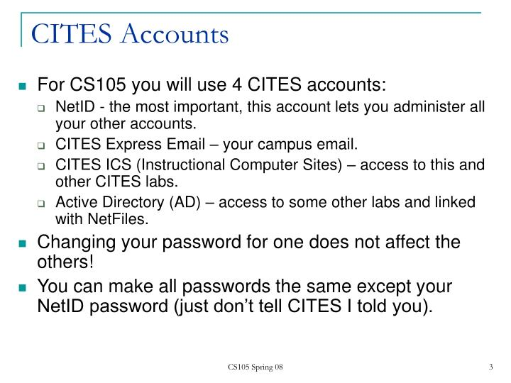 Cites accounts