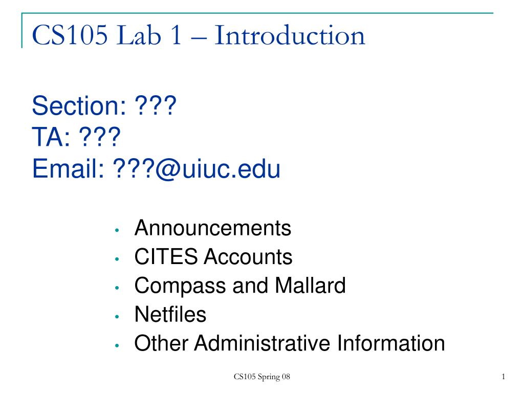 CS105 Lab 1 – Introduction