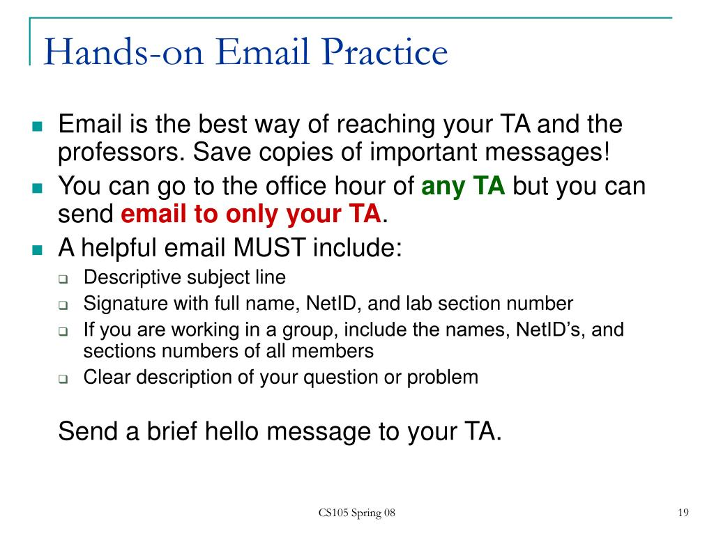 Hands-on Email Practice