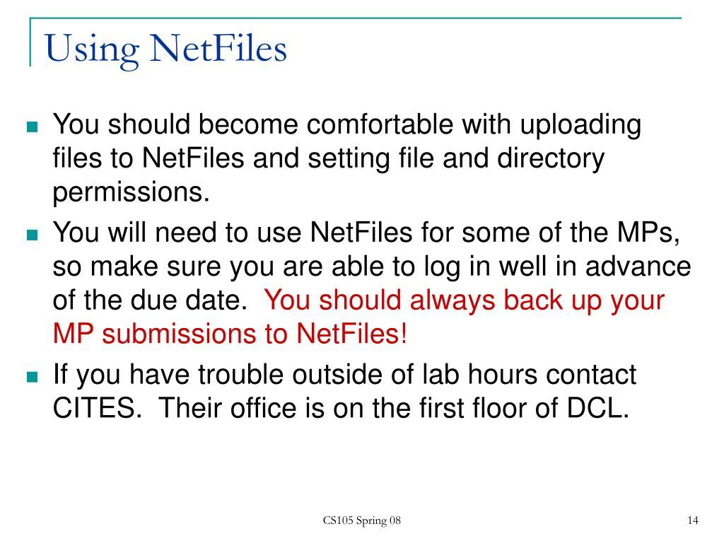 Using NetFiles