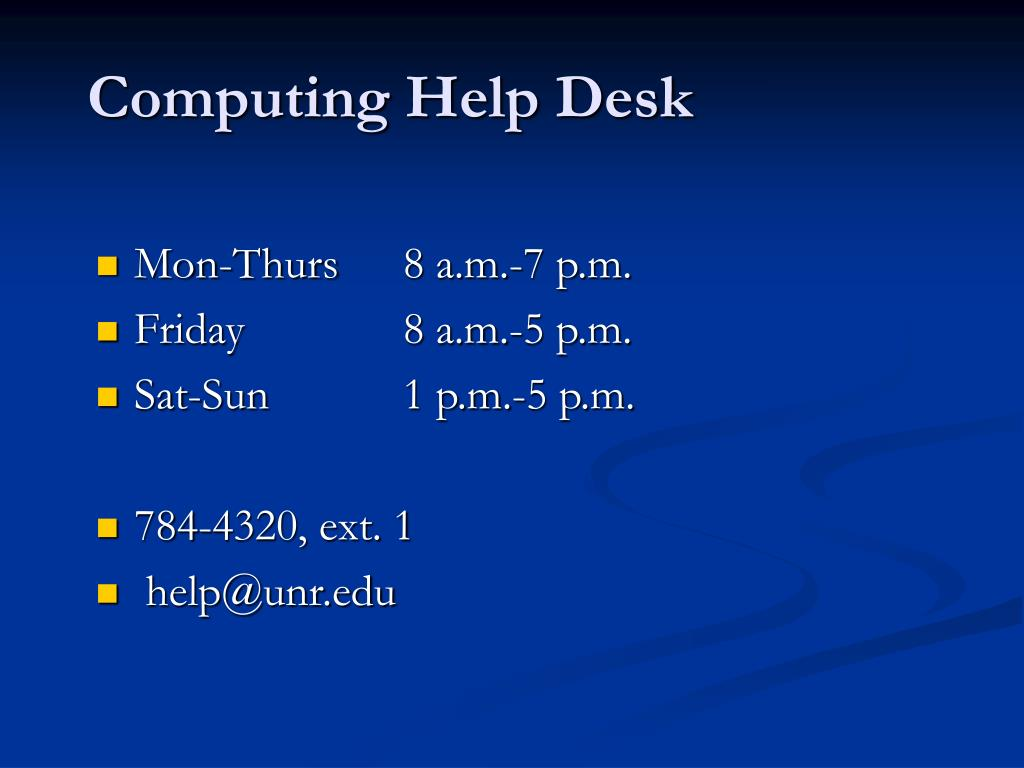 Computing Help Desk