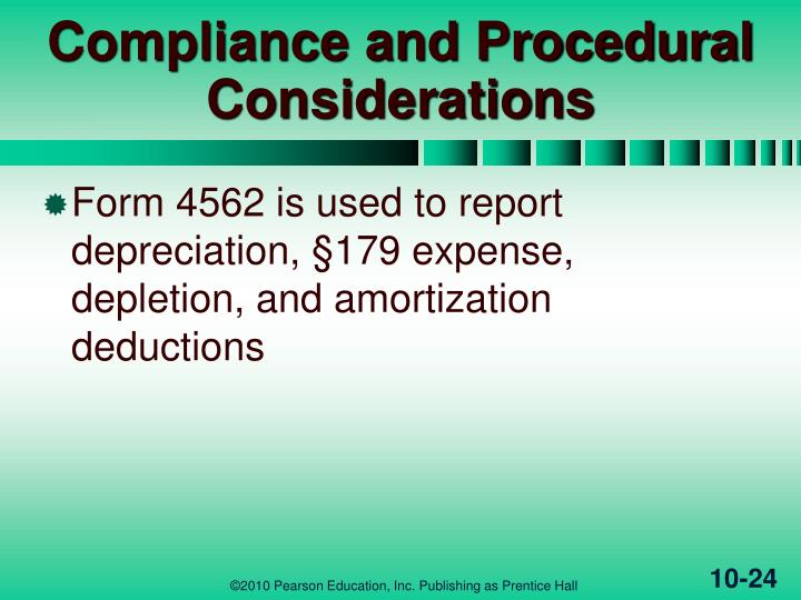 Compliance and Procedural Considerations