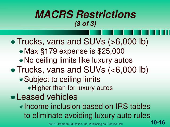 auto depreciation limits     ford cars